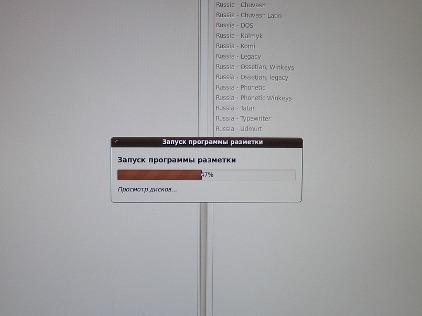 Установка Ubuntu 9.10 - запуск программы разметки