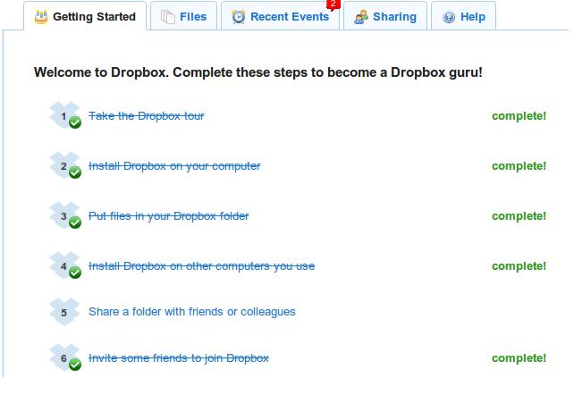 Выполненные задания Dropbox