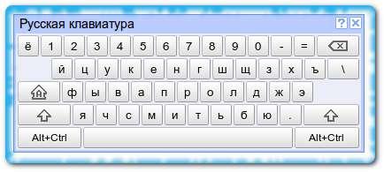 Виртуальная клавиатура Google
