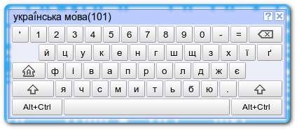 Украинская клавиатура Google
