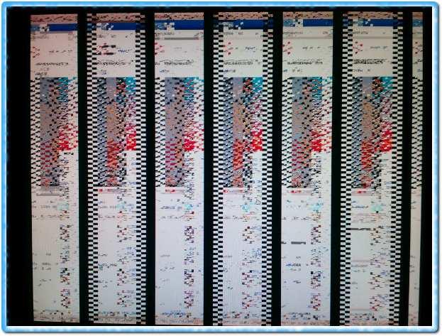 Изображение монитора после выхода из полноэкранного режима flash плеера