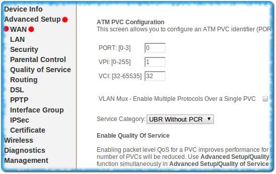Настройка ADSL модема в режиме бриджа