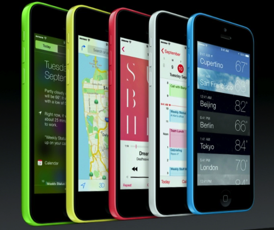 Новые iPhone 5c