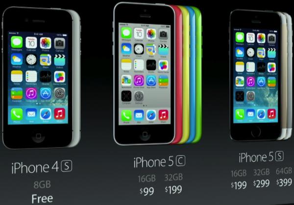 Цены на новые iPhone 5C и 5S