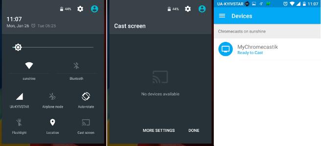 Транслировать экран на Chromecast